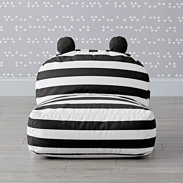 Striped Bear Bean Bag Chair