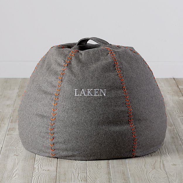 Small Personalized Heathered Sweatshirt Bean Bag Chair Cover