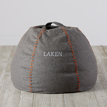 Small Personalized Heathered Sweatshirt Bean Bag Chair