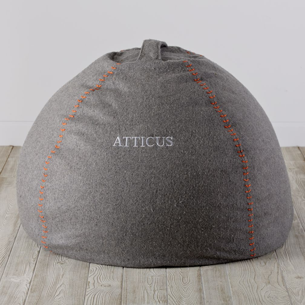 Small Heathered Sweatshirt Bean Bag Chair