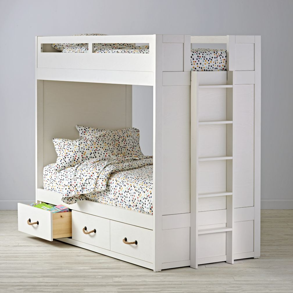 Topside White Glaze Bunk Bed