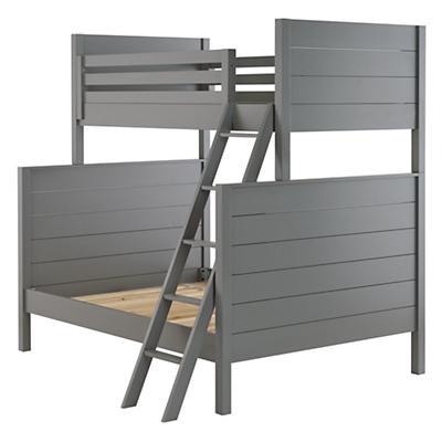 Uptown Twin-Over-Full Bunk (Grey)