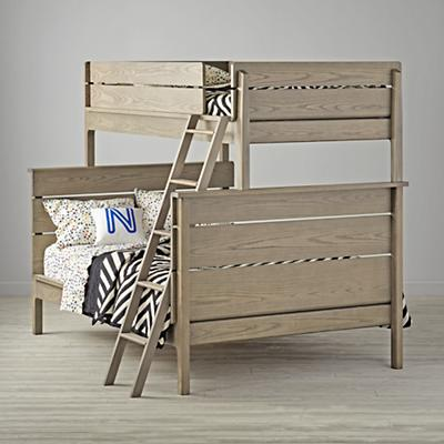 Wrightwood Twin-Over-Full Grey Stain Bunk Bed