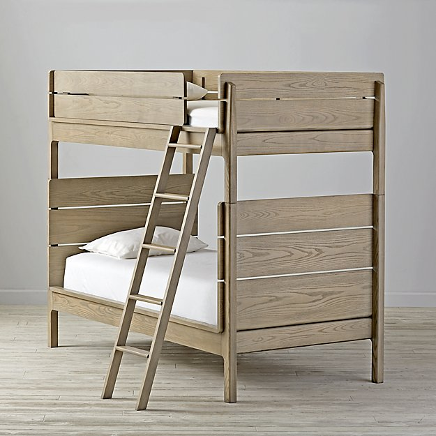 Wrightwood Grey Stain Twin Bunk Bed