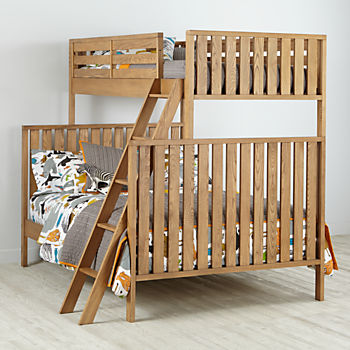 Cargo Natural Twin Over Full Bunk Bed