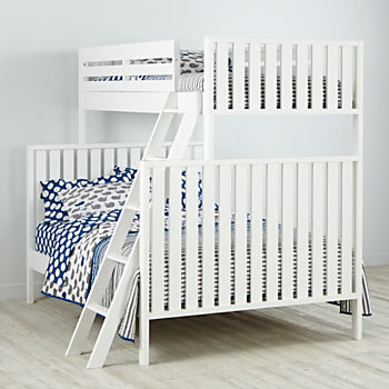 Cargo White Twin Over Full Bunk Bed
