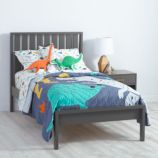 Cargo Low Footboard Bed (Charcoal)