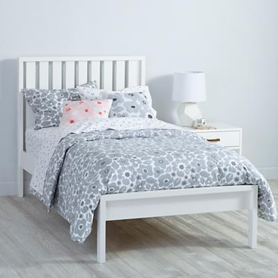 Cargo Low Footboard Bed (White)