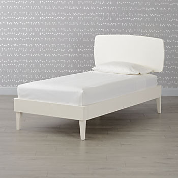 Ellipse White Twin Bed