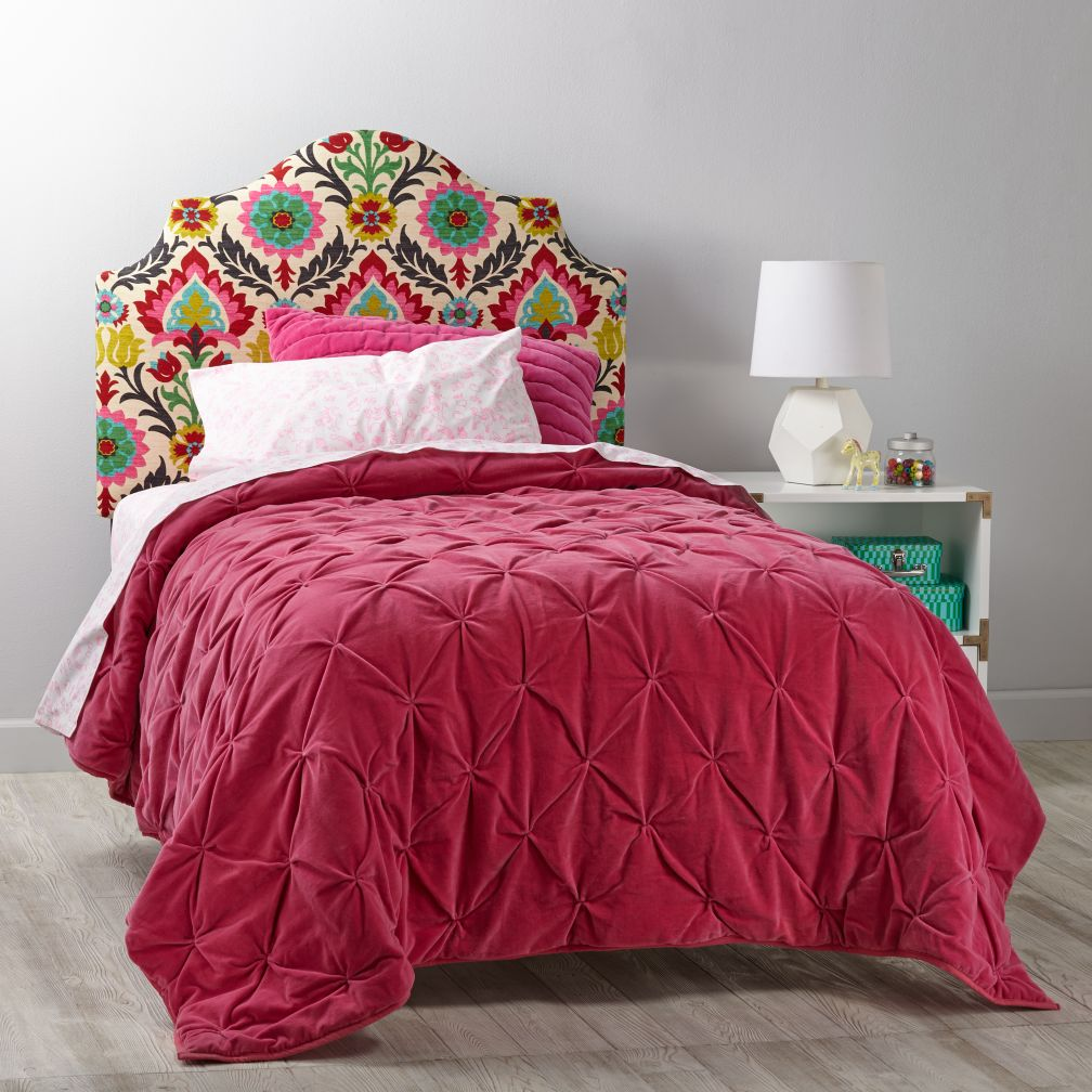 Headboard Patterns arched upholstered headboard (pattern fabrics) | the land of nod