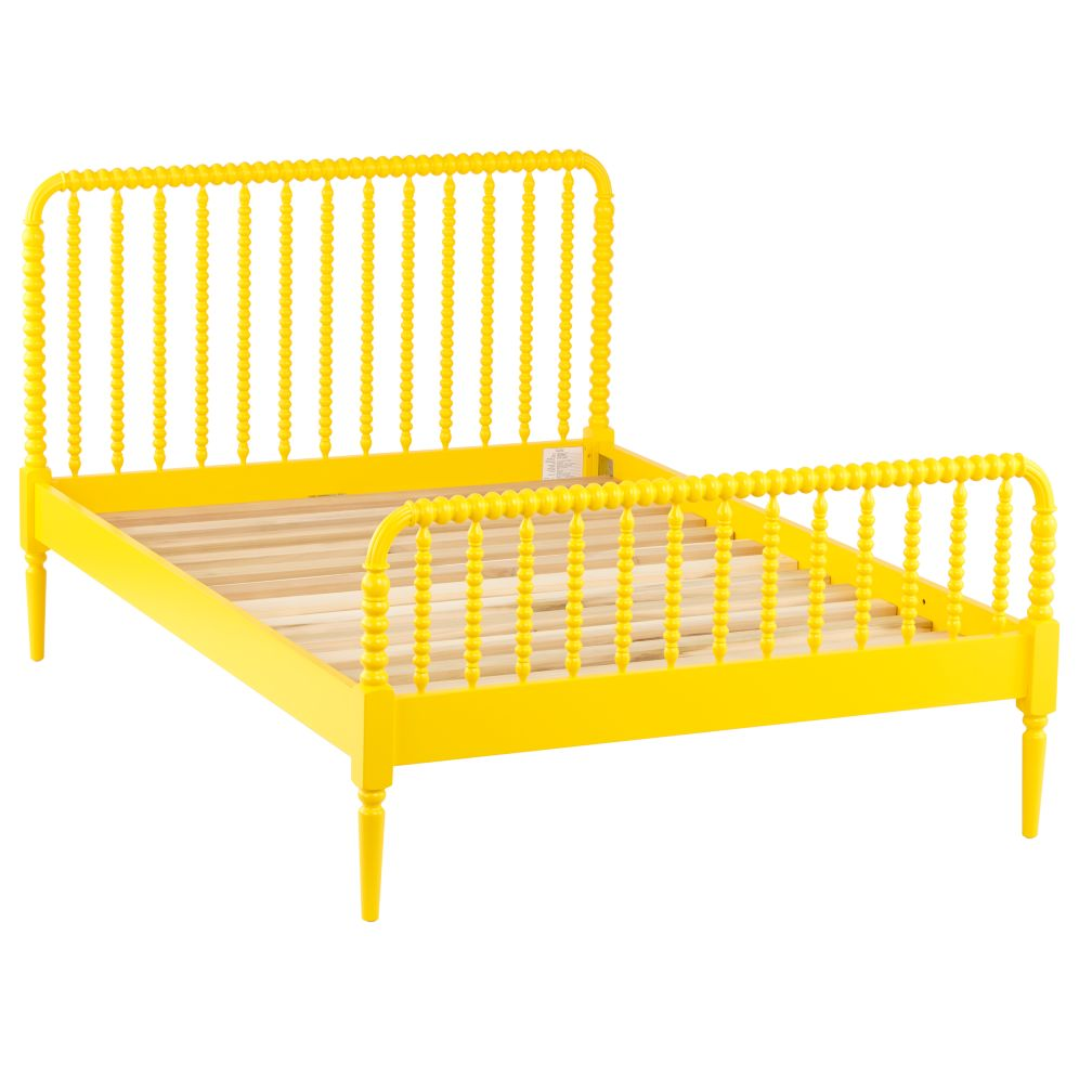 Full Jenny Lind Yellow Bed
