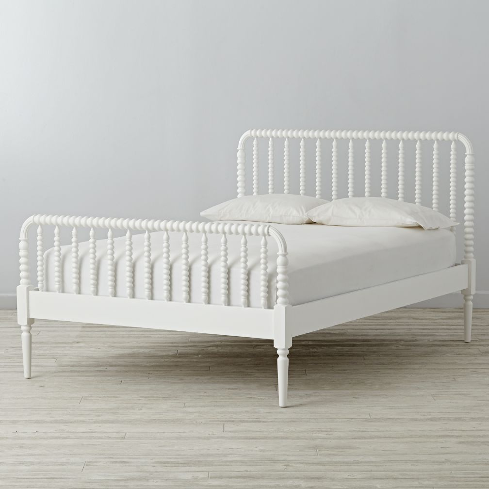 White Bed Frames Full queen jenny lind white bed | the land of nod