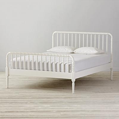 Queen Jenny Lind White Bed