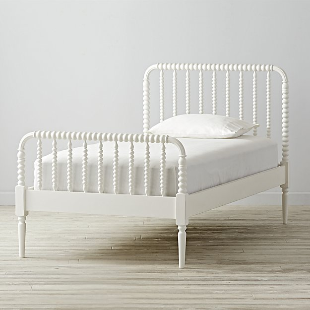 White Twin Bed Frames jenny lind kids bed (white) | the land of nod