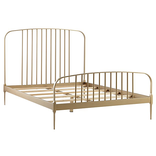 Full Larkin Metal Bed (Gold)