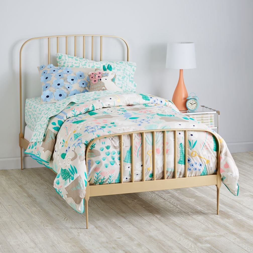 Larkin Metal Bed (Gold)