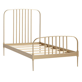 Twin Larkin Metal Bed (Gold)