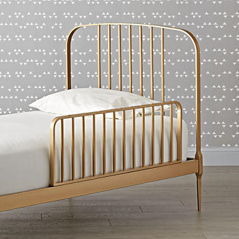 Larkin Gold Bed Guardrail