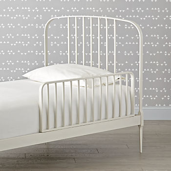 Larkin White Bed Guardrail