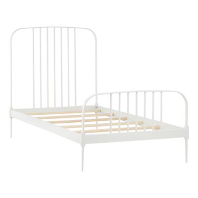 Twin Larkin Metal Bed (White)