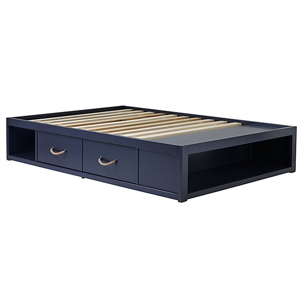 Full Topside Midnight Blue Storage Bed