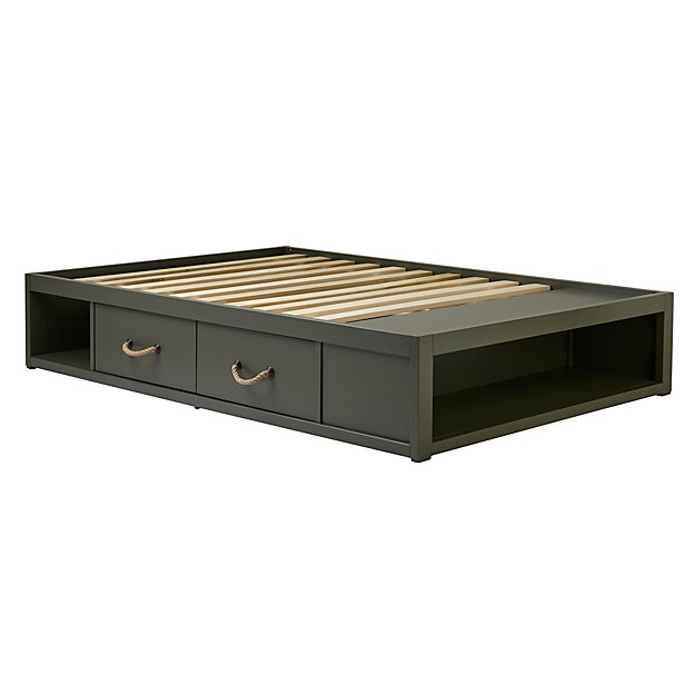 Full Topside Olive Storage Bed