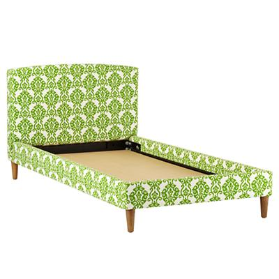 As You Wish Upholstered Twin Bed (Luminary Emerald)