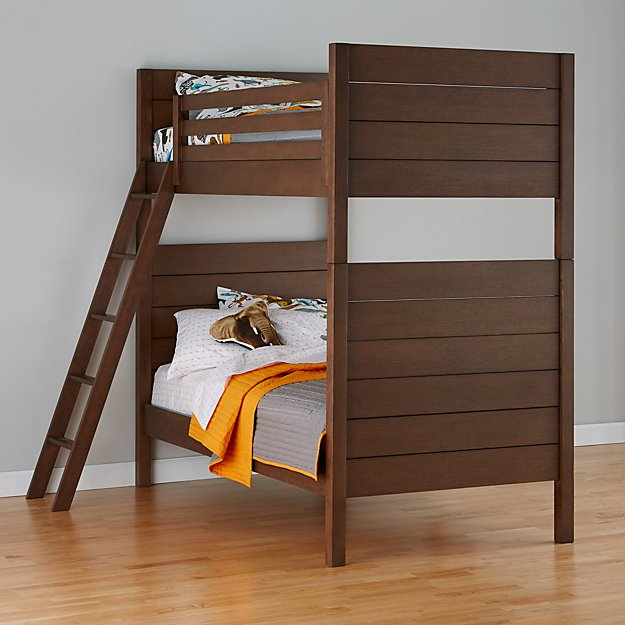 Uptown Brown Twin Bunk Bed