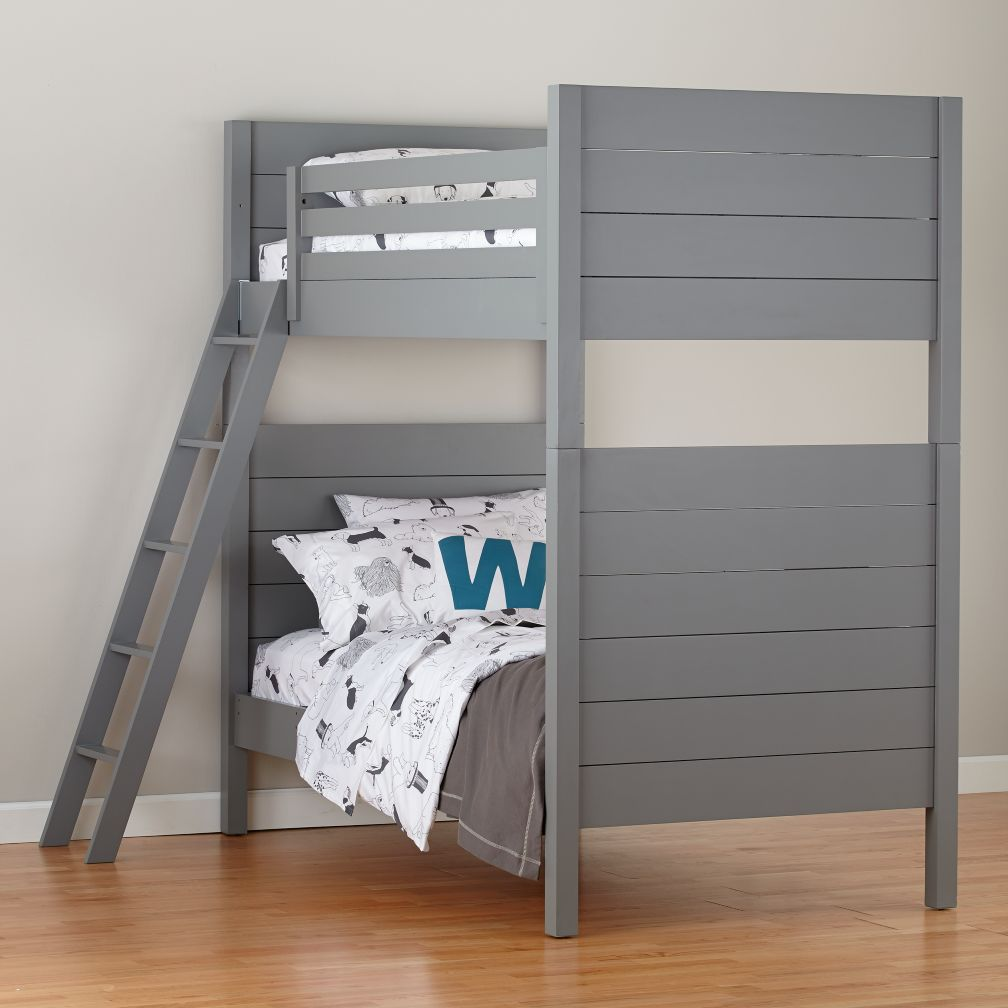 Uptown Twin Over Full Bunk Grey