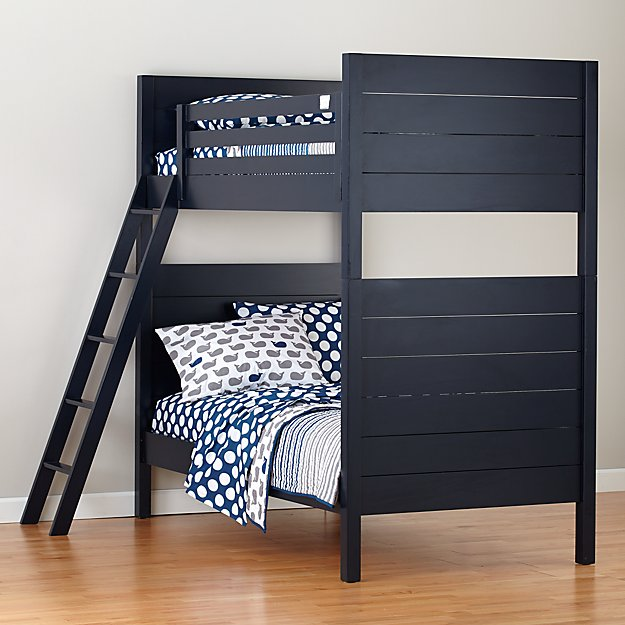Uptown Midnight Blue Twin Bunk Bed