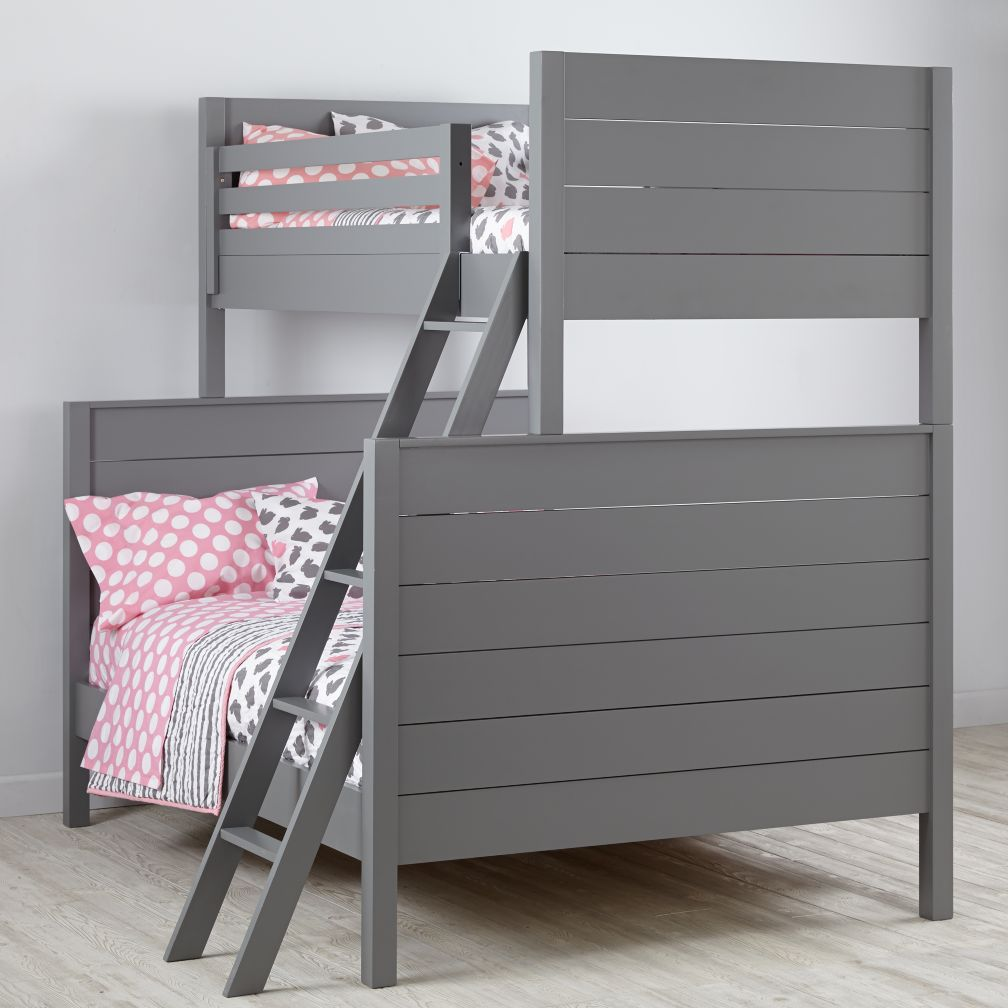 Uptown Twin Over Full Bunk Grey The Land Of Nod