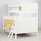 White Uptown Twin-Over-Full Bunk Bed