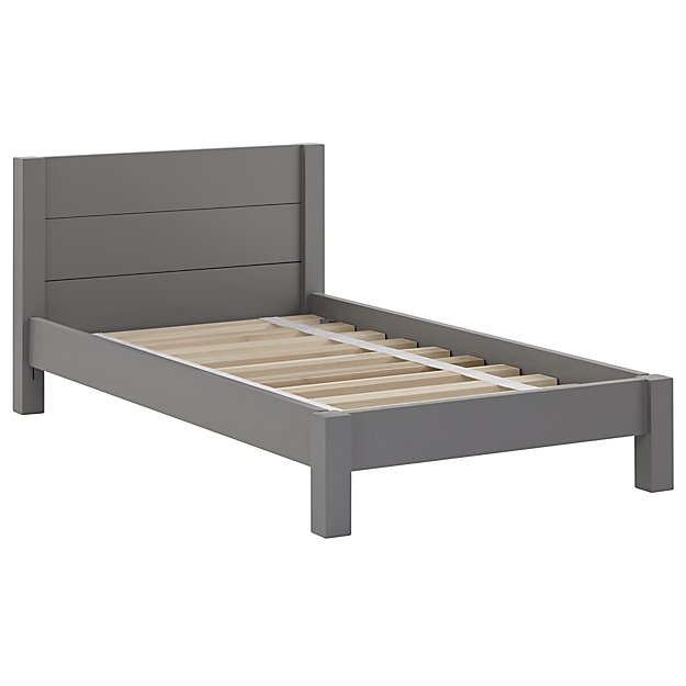 Uptown Toddler Bed Grey The Land of Nod