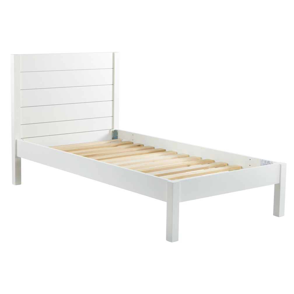 White Twin Bed Frames twin uptown bed (white) | the land of nod
