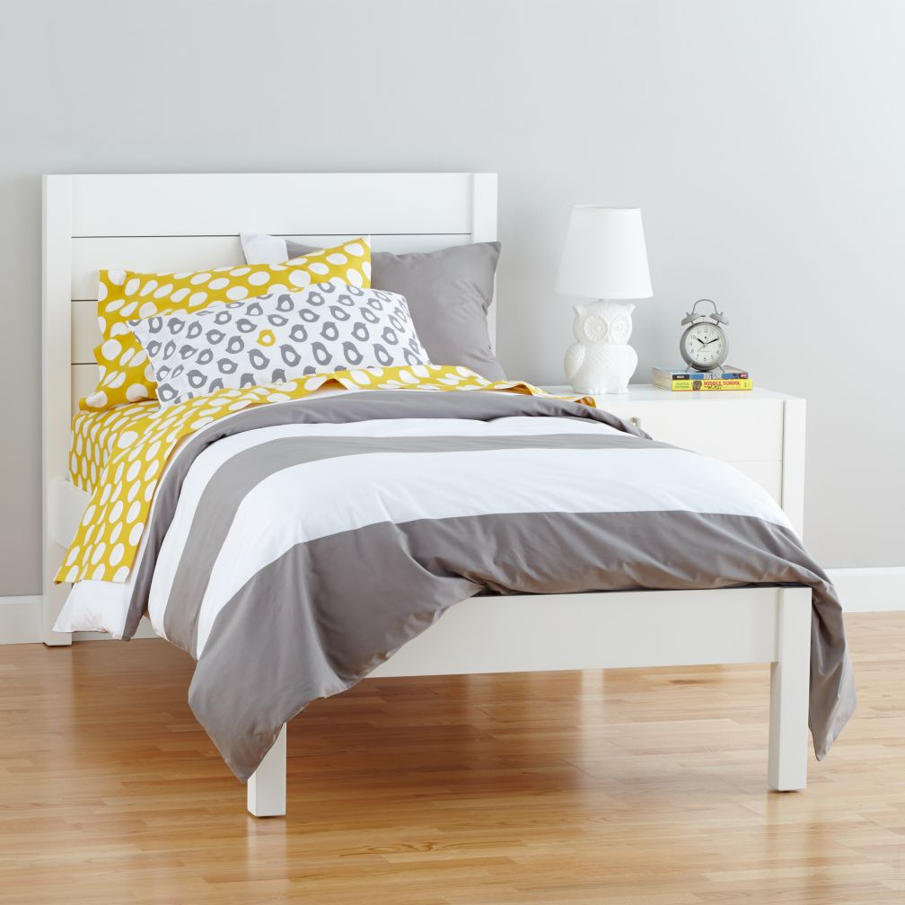 uptown bed white - Yellow Bed Frame