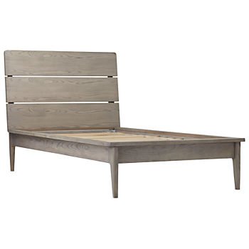 Wrightwood Grey Stain Twin Bed