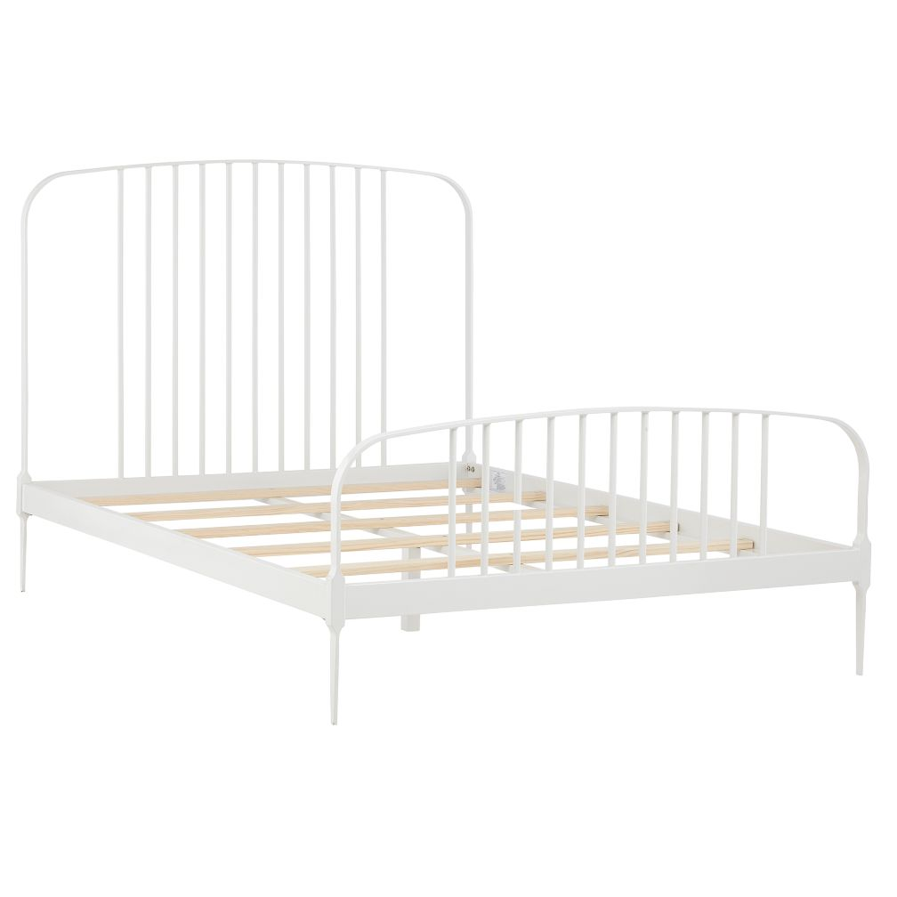 Full Larkin Metal Bed (White)