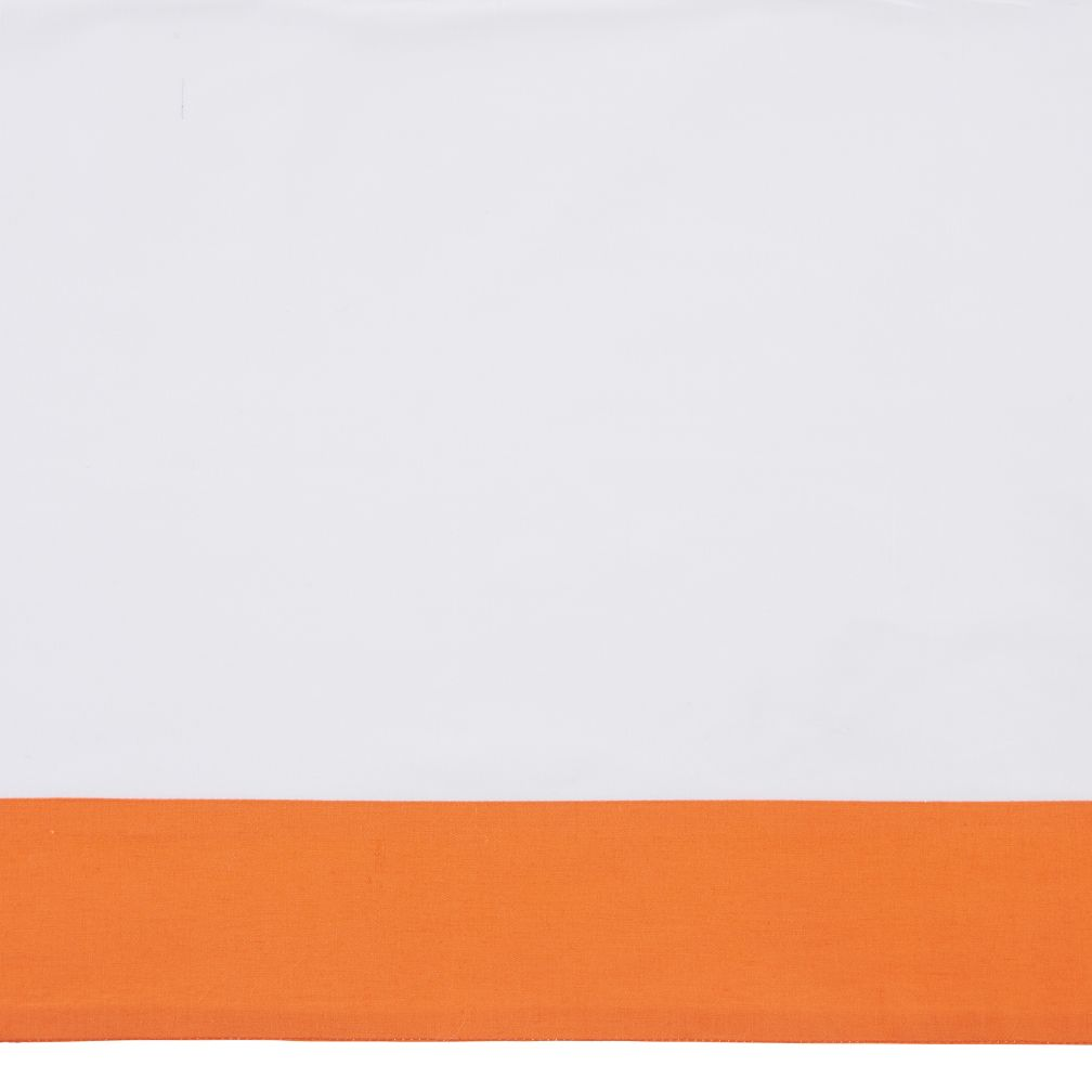 Organic Iconic Orange Crib Skirt