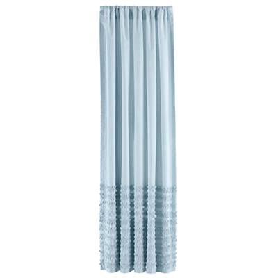 "84"" Multi Ruffle Curtain Panels (Blue)"