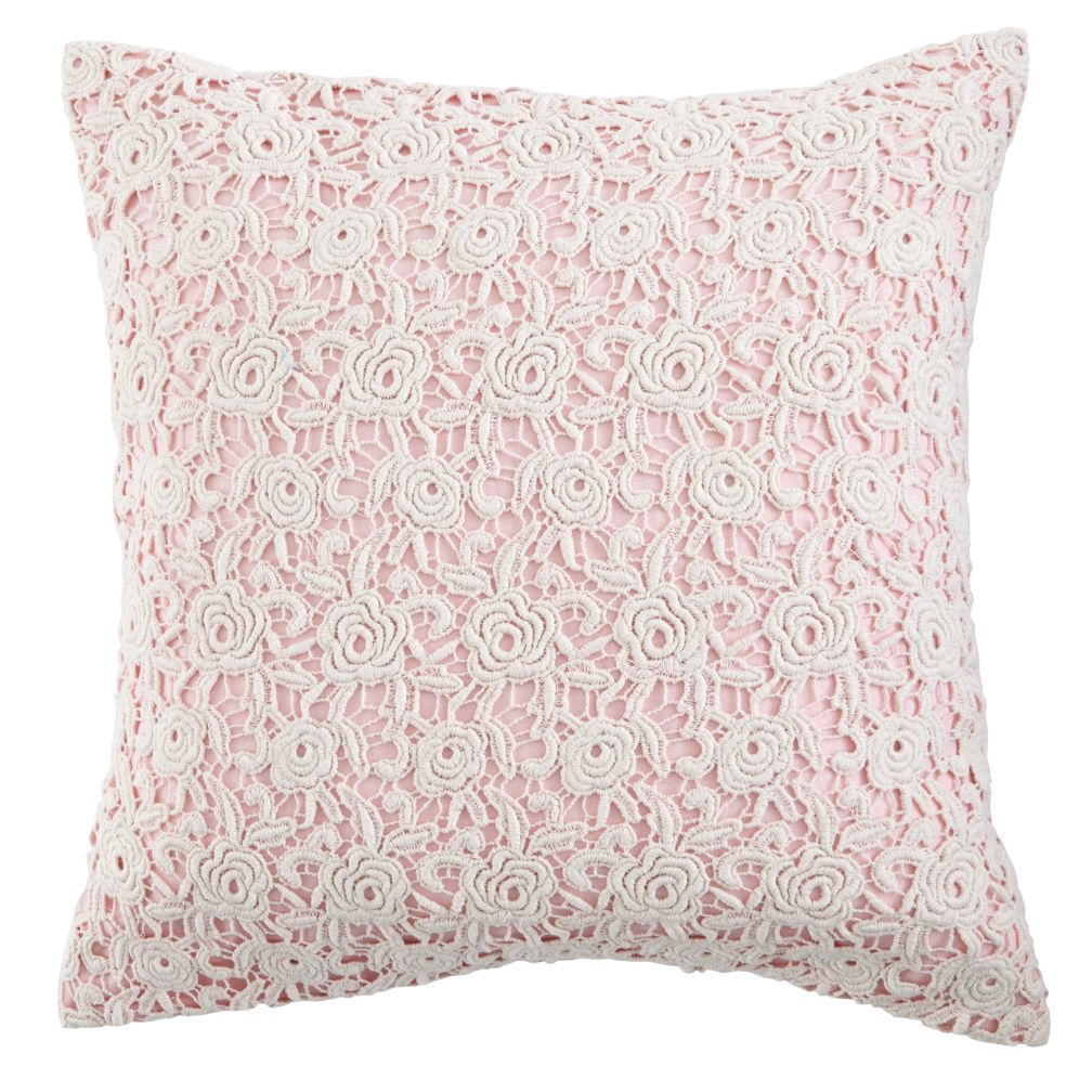 lace pillow cover (pink)  the land of nod -