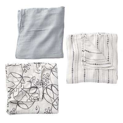 aden + anais Moonlight Silky Soft Swaddle Blankets (Set of 3)