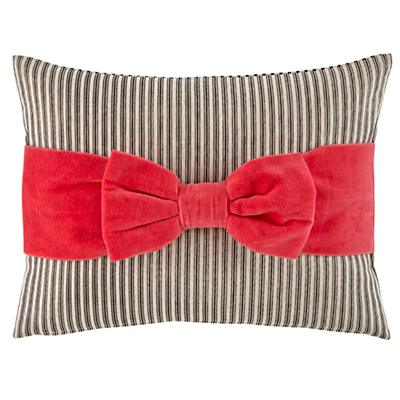 Pink Bow Throw Pillow
