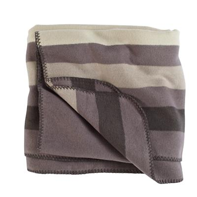 Grey Striped Throw Blanket