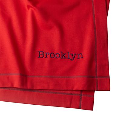 Personalized Standard Issue Red Sweatshirt Blanket