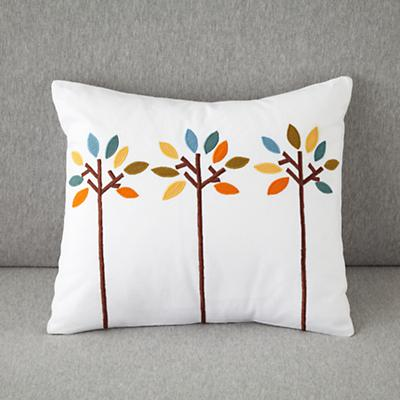 Bright Eyed Trees Throw Pillow Cover