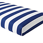 Blue Candy Stripe Crib Fitted Sheet