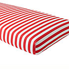 Red Candy Stripe Crib Fitted Sheet