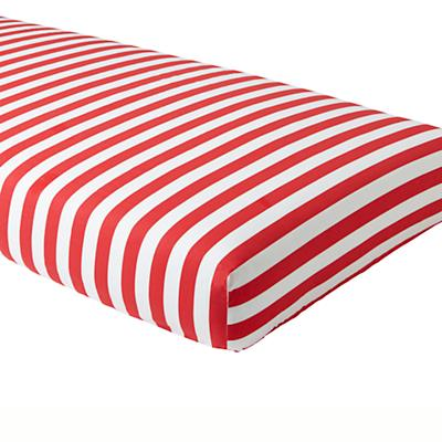 Candy Stripe Crib Sheet (Red)