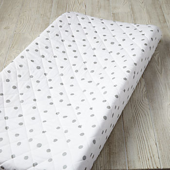 Silver Dot Changing Pad Cover