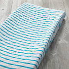 Early Edition Blue Stripe Changing Pad Cover